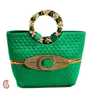 Create a dramatic look with this gorgeous sea green silk stitch clutch. Shop Now :http://www.tajonline.com/gifts-to-india/gifts-AR5026.html?aff=pintrest2013/
