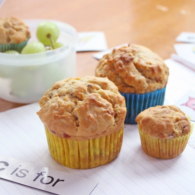 Carrot, muesli and banana muffins. Will freeze well and are perfect for the kid's lunchbox.