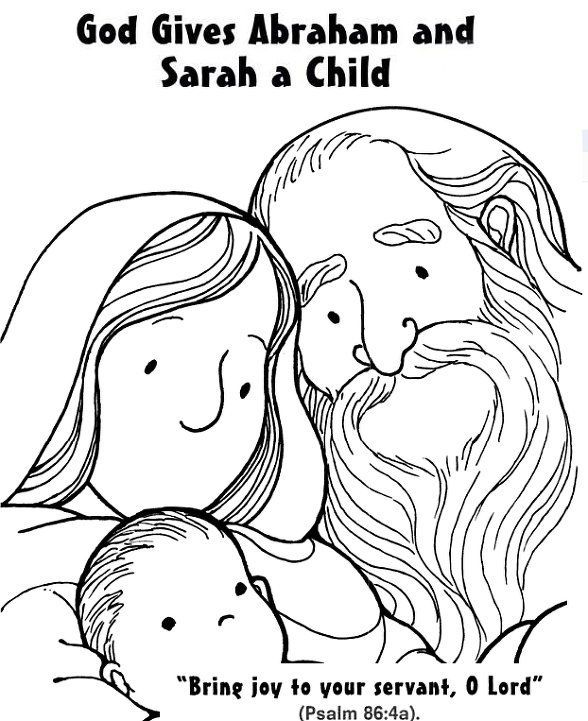 Baby Isaac colouring page | Isaac is Born - Genesis ...