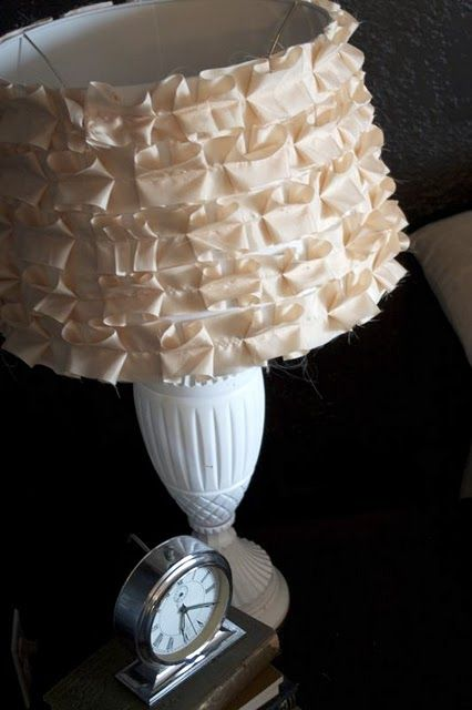 Shabby chic pleated shade