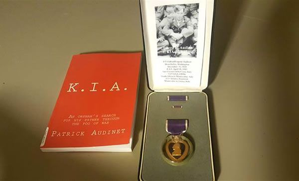 """Antiques dealers, """"Amy and Matthew Maybury"""", return Purple Heart medal found in…"""