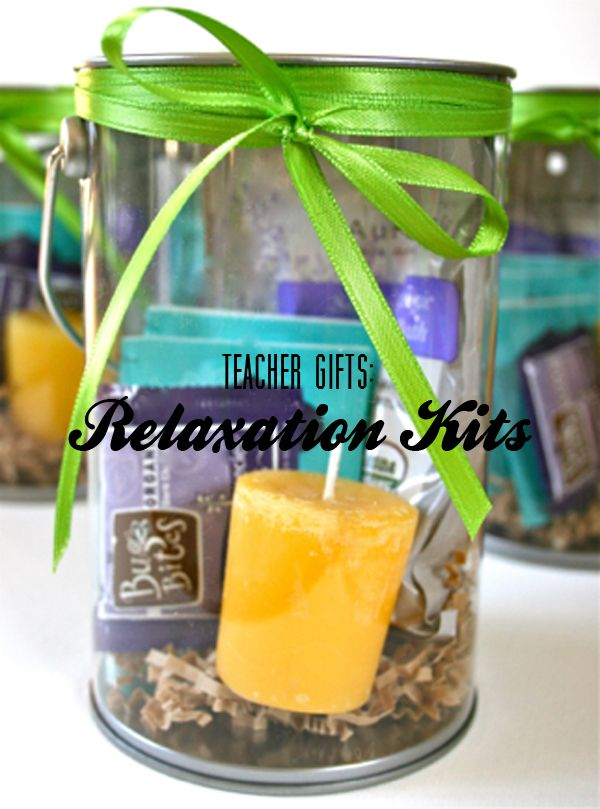 Teacher Gifts... Relaxation Kits