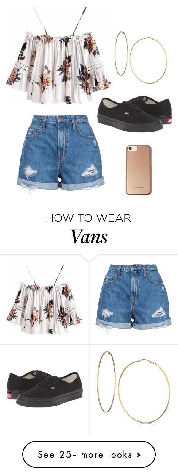 """Outfit ♡"" by geovanacaroline on Polyvore featuring Nobody Denim, Vans, GUESS and Karen Millen"