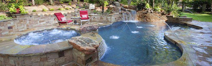 Freeform Pools | Cody Pools | Pool Builders, Austin, Dallas/Ft.Worth, San Antonio and Houston  Matts - flagstone, freeform, spa, water feature, waterfall, deck jets