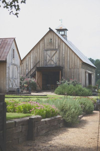 love the barn and the beautiful landscaping... this is exactly what i want for my party barn