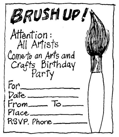 Birthday Parties for Children: Arts and Crafts Party