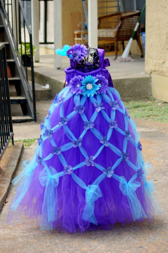 Unique Flower Girl Dress - wedding - Pinterest - Purple- Girls ...