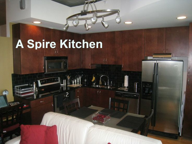 Spire Midtown Kitchen -- Cabinet Choices Are By Odd And