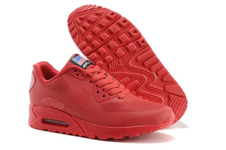 2014 Air Max 90 Hyperfuse PRM Mens Shoes Red