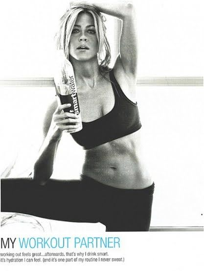 style and lifestyle blog: Jennifer Aniston ~ hot yoga body for Smart Water