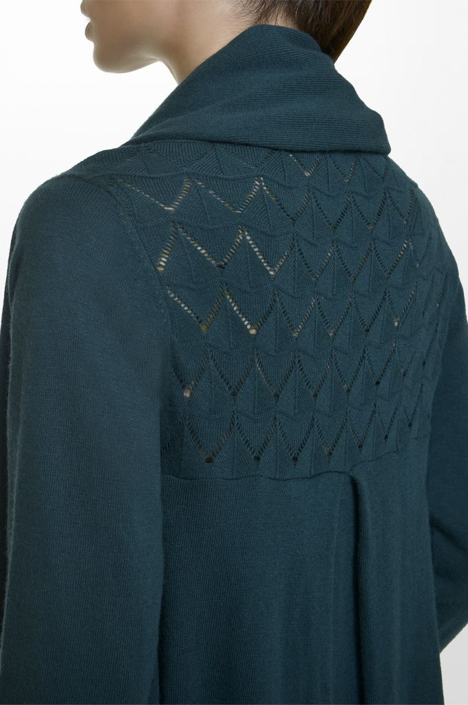 Sarah Lawrence - asymmetrical open placket cardigan.