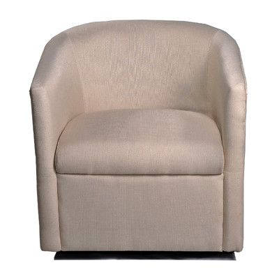 Swivel Barrel Chair - Linen Fabric $250