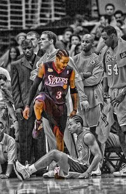 Classic Allen Iverson with the stepback jumper on Tyrone Lue then steps over him! get chills every time i see this