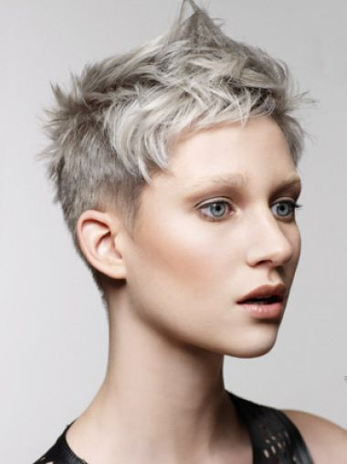 Young Fashion Grey Short Clean Lace Front Human Wigs In 2018 Hair