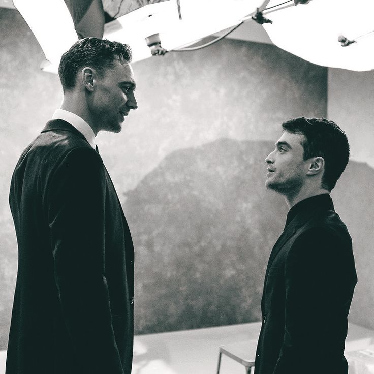 "Tom Hiddleston and Daniel Radcliffe. I laughed until I realized I'm only 2"" taller than Daniel. Tom is gigantic and yummy."