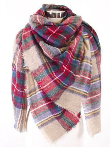 Plaid Blanket Scarf | Sassy Shortcake I recently bought a blanket scarf similar to this off Amazon for $16.99 and it's super soft!