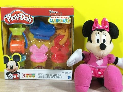 Play-Doh Mickey Mouse Clubhouse and Minnie Mouse..
