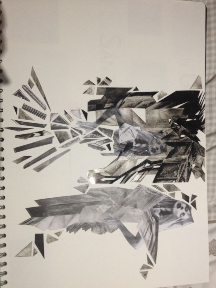 Fashion Collage, Inspired by German Expressionism
