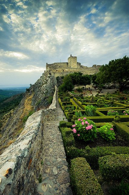 Marvão Castle, belvedere inside the mediaeval walls #Portugal