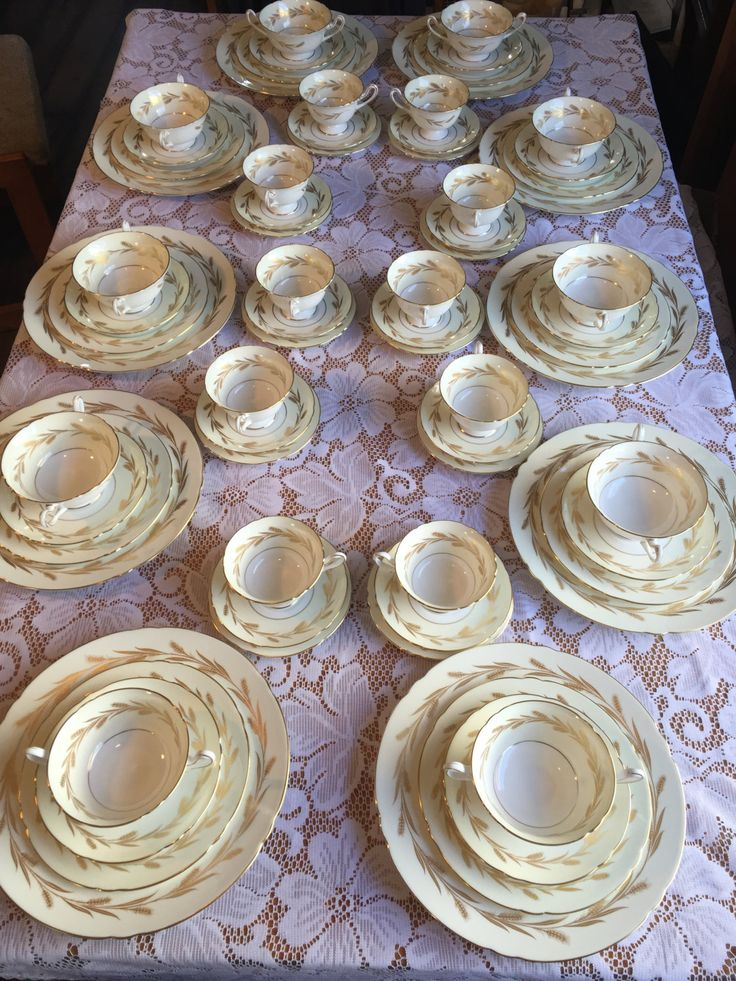 Vintage golden wheat dishes Etsy