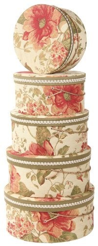 Jennifer Taylor Brianza 5-Piece Set Hat Box