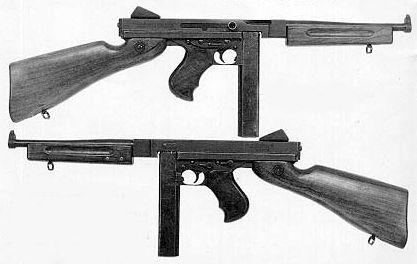 Ametralladora Thompson M1928 A1 (de guerra) con cargador recto