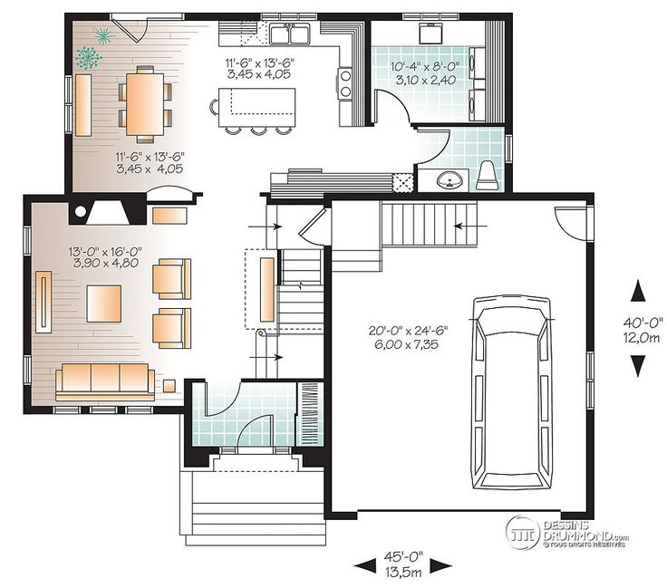 232 best Plan maison images on Pinterest House floor plans, Home - calculer la surface d une maison