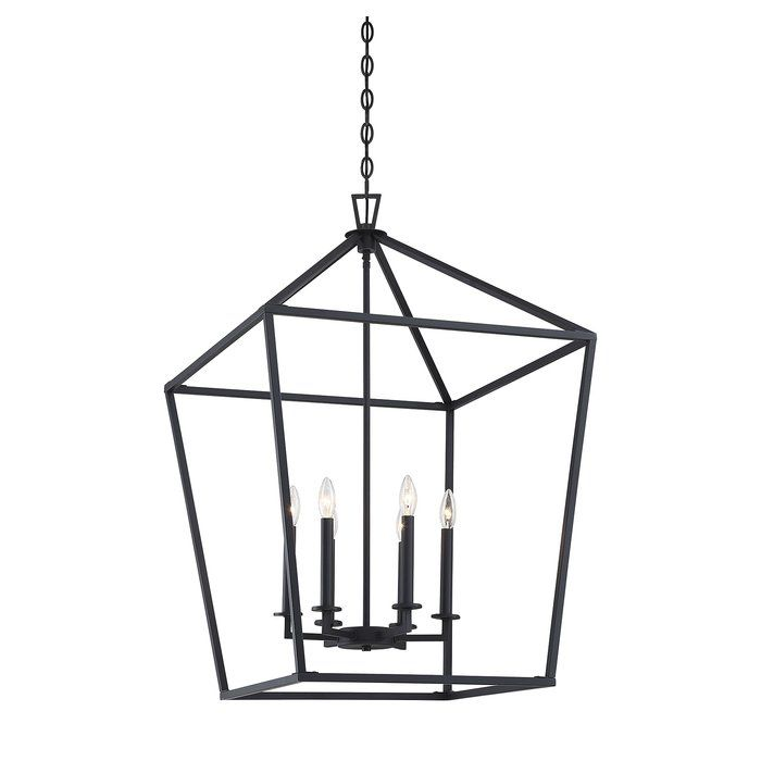 Israel 6 Light Lantern Geometric Chandelier With Images