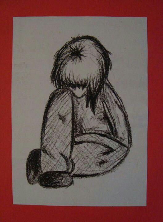 Wax Crayon Drawing