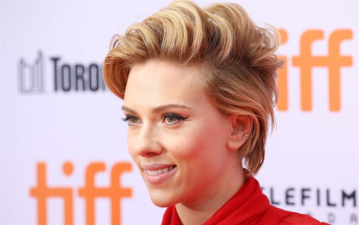 Download wallpapers Scarlett Johansson, 2017, Scar Jo, american actress, blonde, beauty