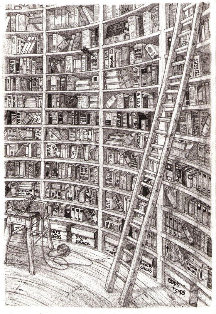 Картинки как нарисовать библиотеку