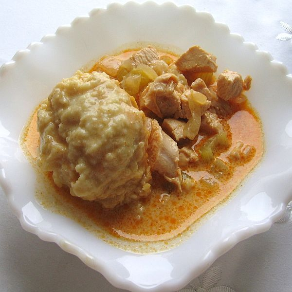 Hungarian Chicken Paprikash Soup Recipe - Paprikas Csirkeleves: Hungarian Chicken Paprikash Soup with Bread Dumplings