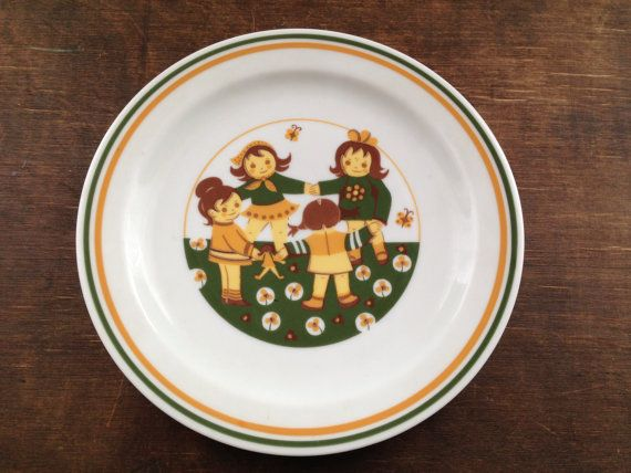 Vintage GDR Inglasur Colditz plate Kids retro plate Made in West Germany