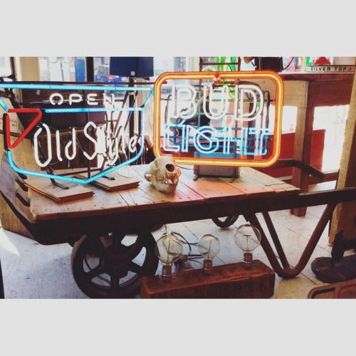 Reclaimed coffee table dolly cart