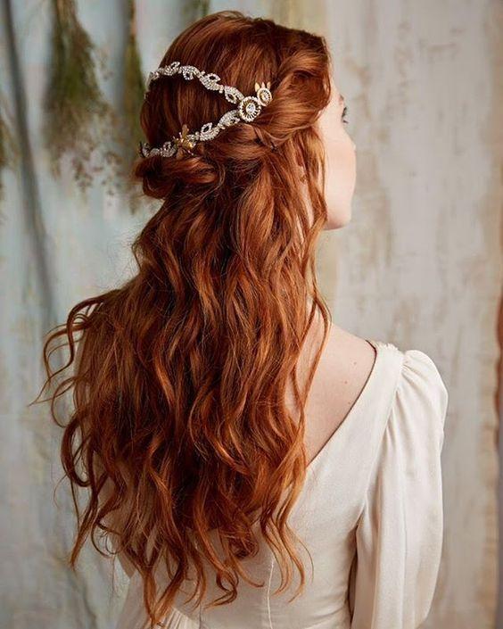 Red Wavy Hair