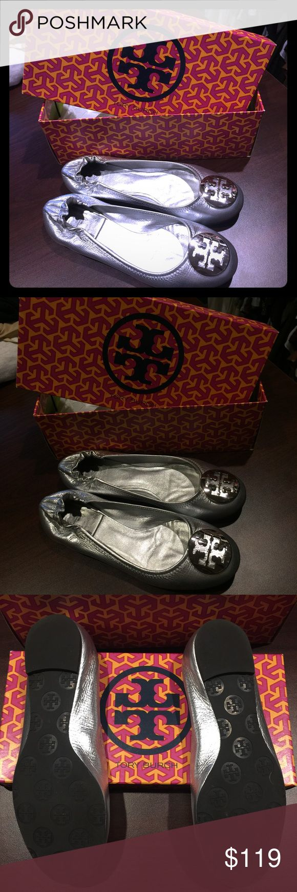 NWT | Tory Burch | Silver Ballet Flat | Size 7.5 NWT | Tory Burch | Silver Ballet Flat | Size 7.5 Tory Burch Shoes Flats & Loafers