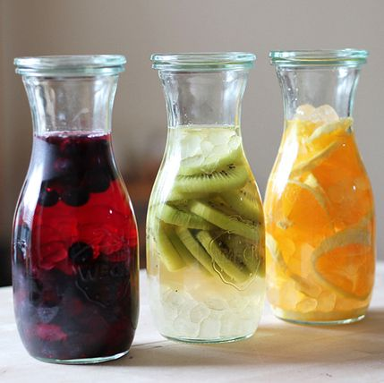 To help increase your water intake, make your water more interesting by infusing it with fruits such as lemons, limes and oranges!