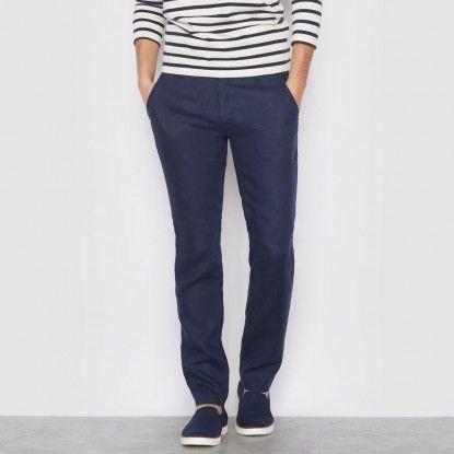 Pánské kalhoty pro každodenní nošení R ESSENTIEL             - tmavě modrá
