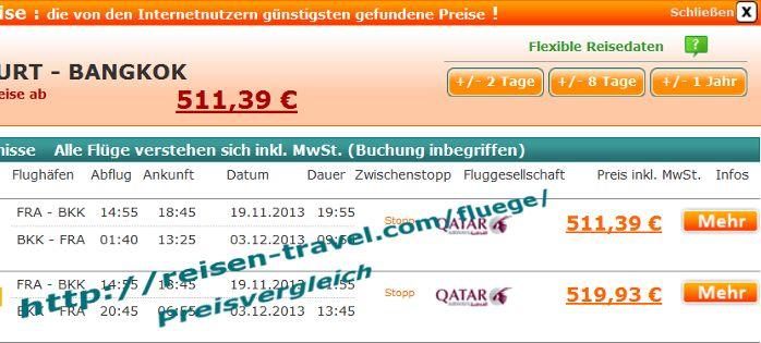 Billig Flugticket für Flug von Frankfurt nach Bangkok mit Rückflug BKK - FRA bester Flugpreis im Preisvergleich im November Dezember 511.39 Euro und billige Hotels findet Ihr auch http://reisen-travel.com/fluege/ Billigflüge weltweit finden