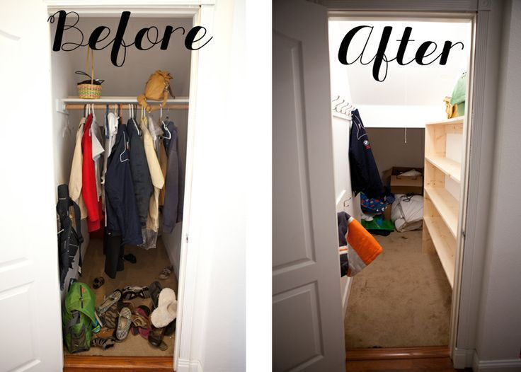 Closet Under Stairs Before And After Closet Under Stairs Hall Closet Organization Front Hall Closet