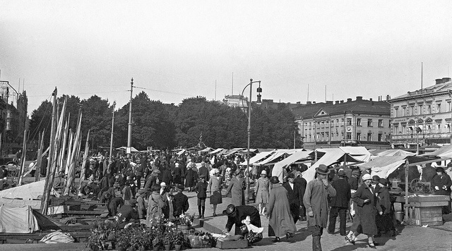 Love this old picture:  Helsinki, Finland, A Market Quay, 1925.