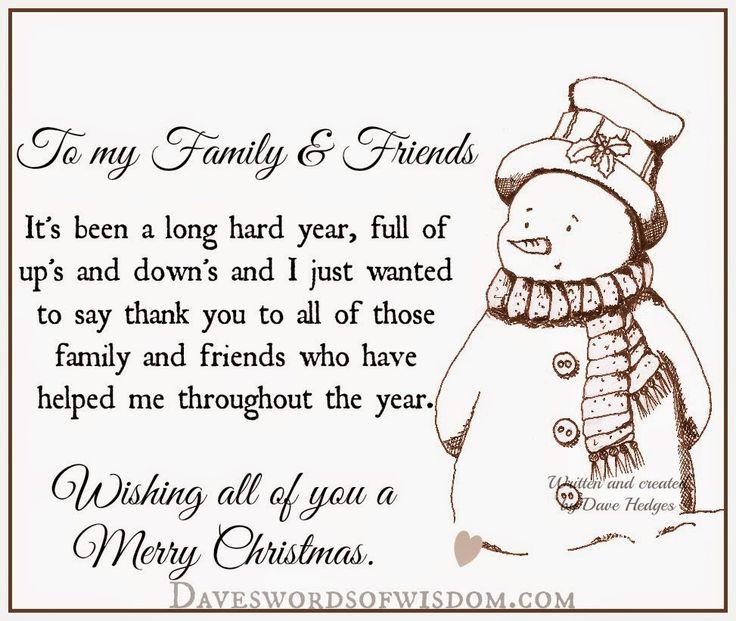 Daveswordsofwisdom.com: Merry Christmas to my Family & Friends.