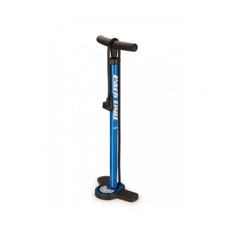 Pompe à pied de chez Park Tool, adaptée pour la maison, le garage, dans l'atelier ou sur la piste.