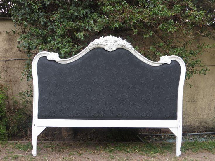 Respaldo de cama pintado y tapizado muebles reciclados - Muebles reciclados vintage ...