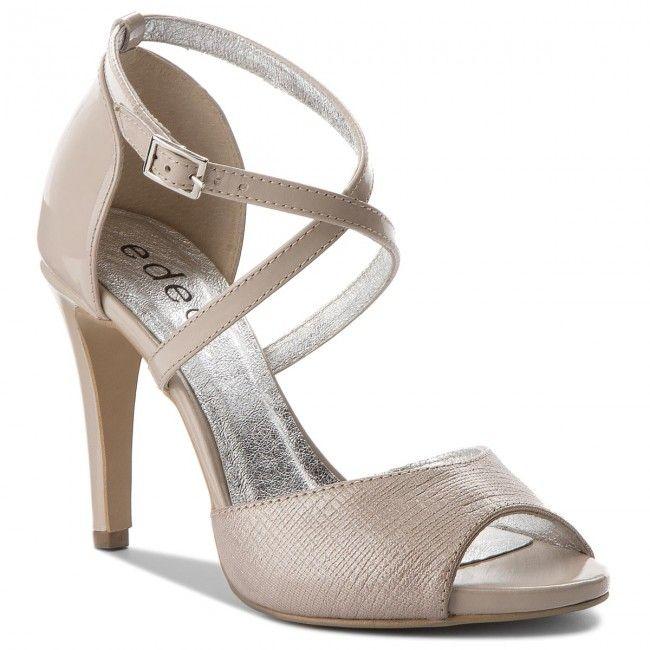 Sandaly Edeo 3213 517 913 Bez Wzor Heels Shoes Sandals