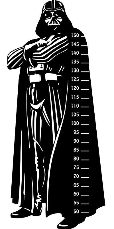 Darth Vader. #Vinilo infantil #medidor