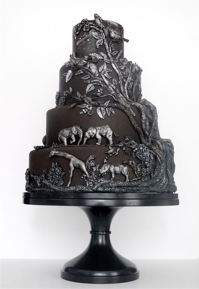 African themed wedding cakes
