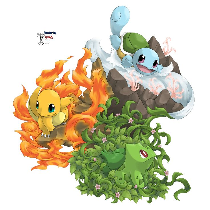 pictures of pokemon   Render bulbizarre carapuce salameche pokemon - Pokemon - Animes et ...