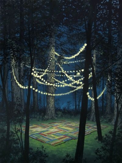 Jeremy Mangan. This totally reminds me of a project I did in Landscape Architecture - a night garden. Loved it.