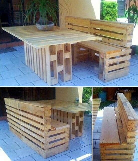 Pallet patio furniture | Home decor | Pinterest